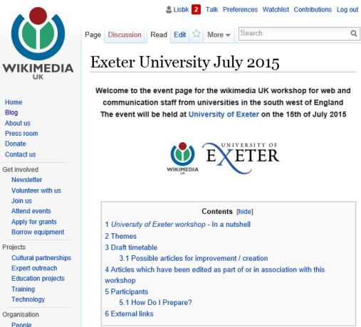 wikipedia workshop at Exeter University, July 2015