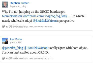 Initial thoughts on ORCID